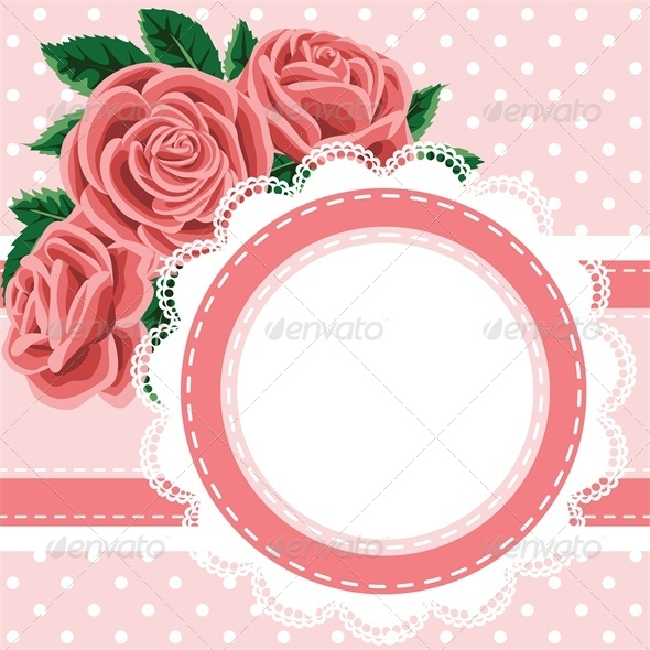 Vintage Card with Lace Doily - Backgrounds Decorative