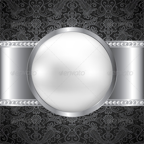Background with Pearl and Silver Frame - Backgrounds Decorative