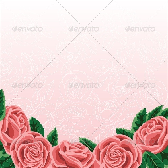 Template for Wedding Invitation or Greeting Card  - Flourishes / Swirls Decorative
