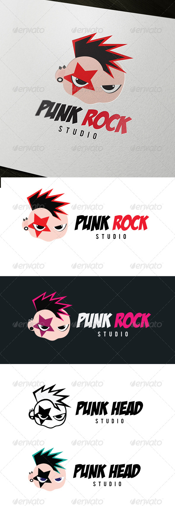 Punk Rock Logo - Humans Logo Templates