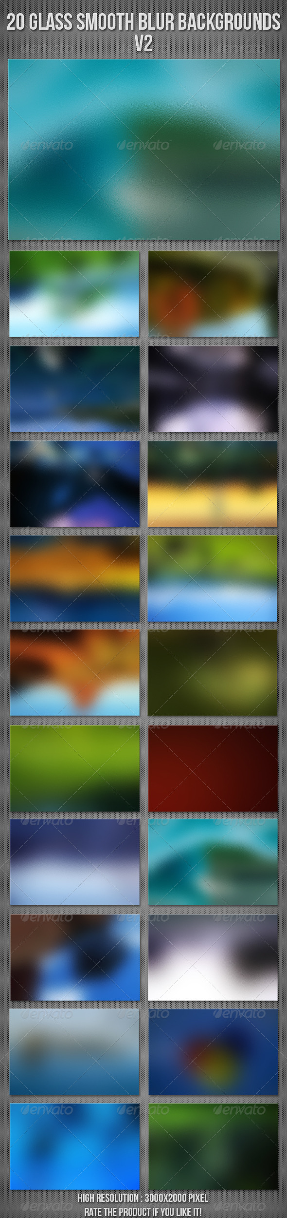 20 Glass Blur Backgrounds V2 - Backgrounds Graphics