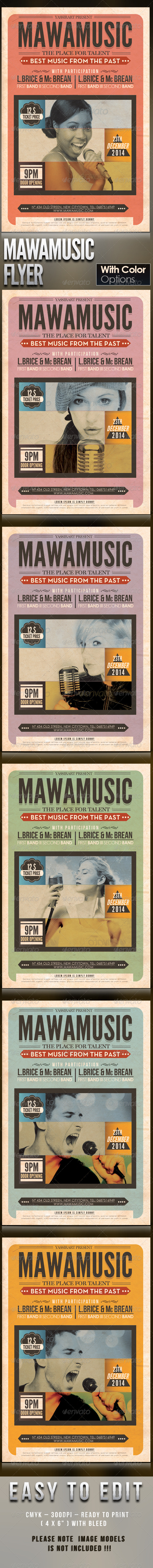 Mawamusic Flyer Template - Clubs & Parties Events