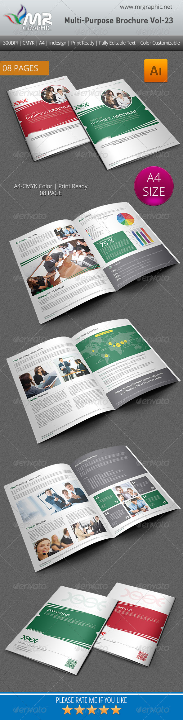 Multipurpose Business Brochure Template Vol-23 - Corporate Brochures