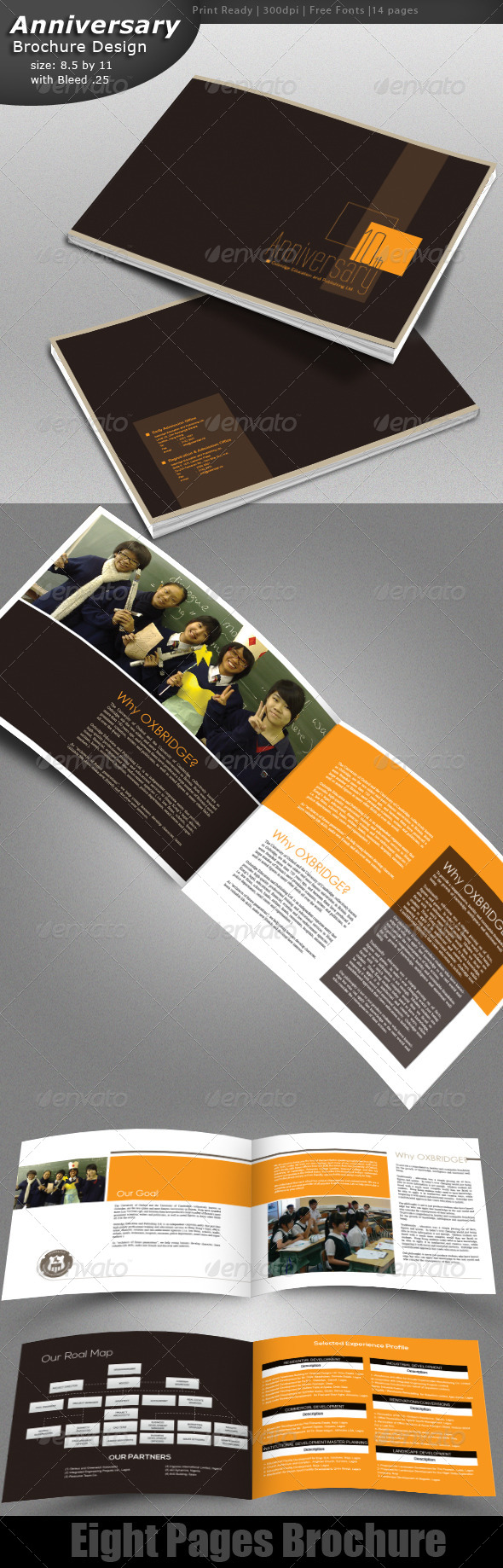 Anniversary Brochure Design  - Brochures Print Templates