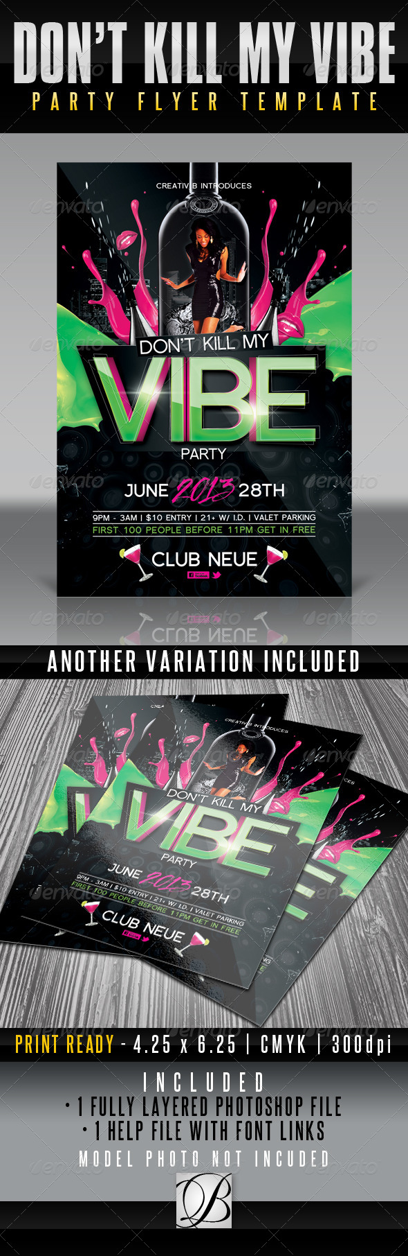Vibe Party Flyer Template - Clubs & Parties Events