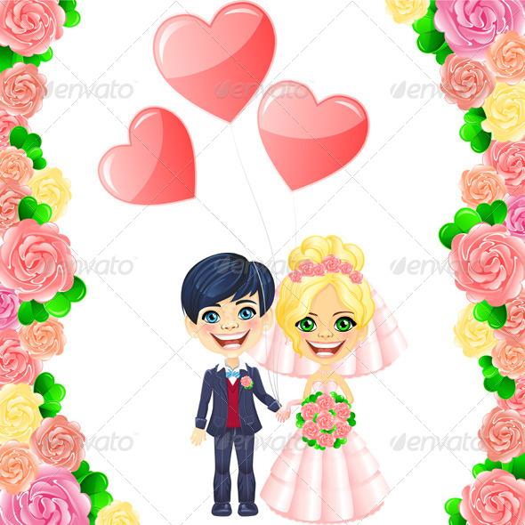 Vector Wedding Invitation - Weddings Seasons/Holidays