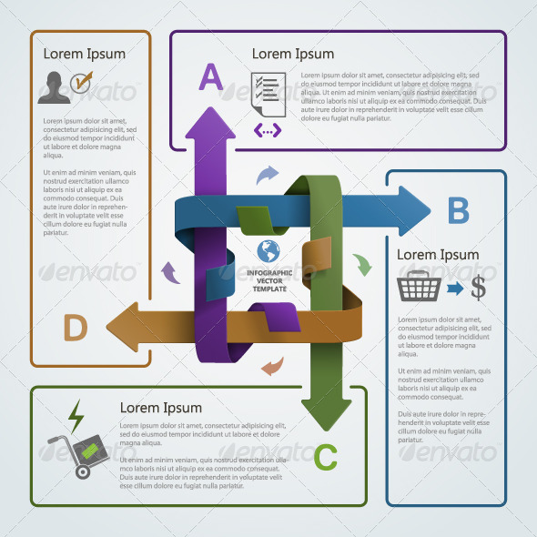 Abstract Illustration of Infographic Arrows - Infographics