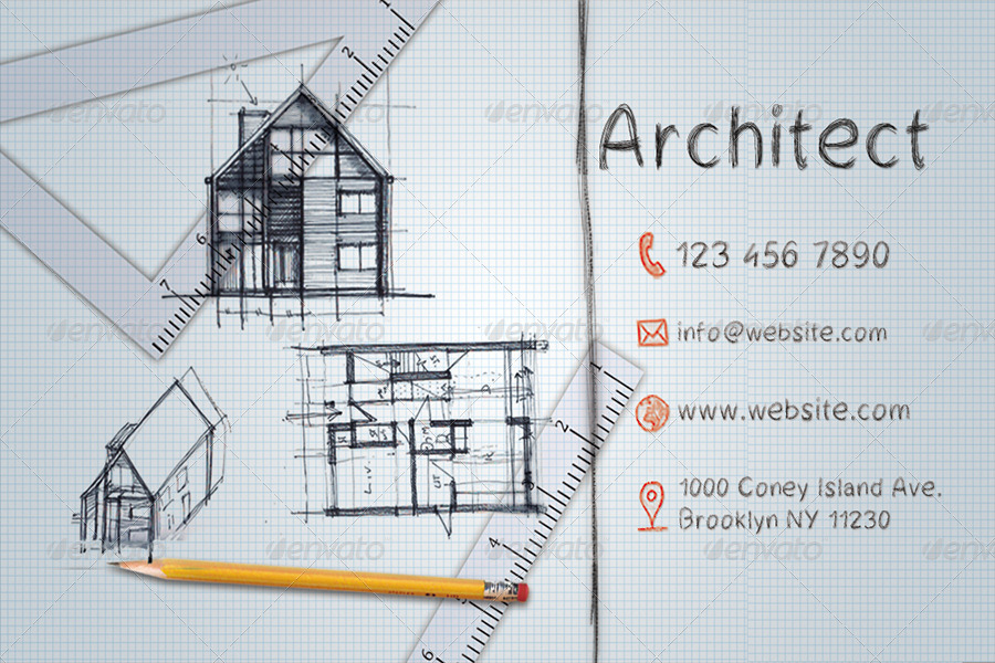 architect business card by hrmark