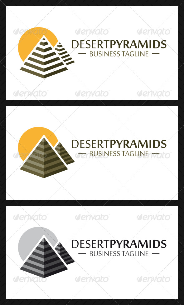 Pyramids Logo Template - Objects Logo Templates