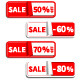 Set of Sale Sticker or Label - GraphicRiver Item for Sale