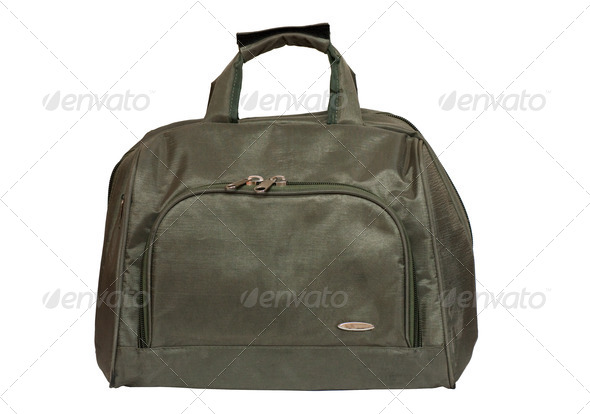 Green bag - Stock Photo - Images