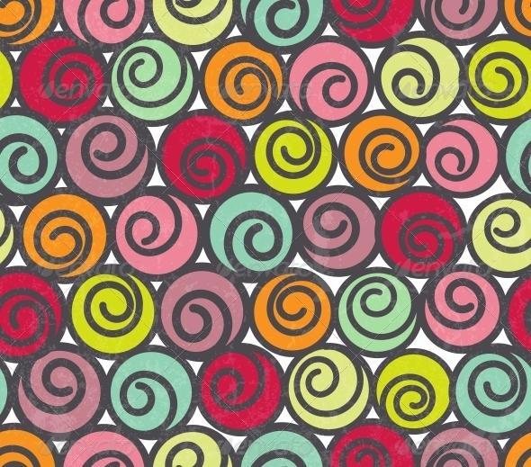 Seamless Pattern with Swirls - Patterns Decorative