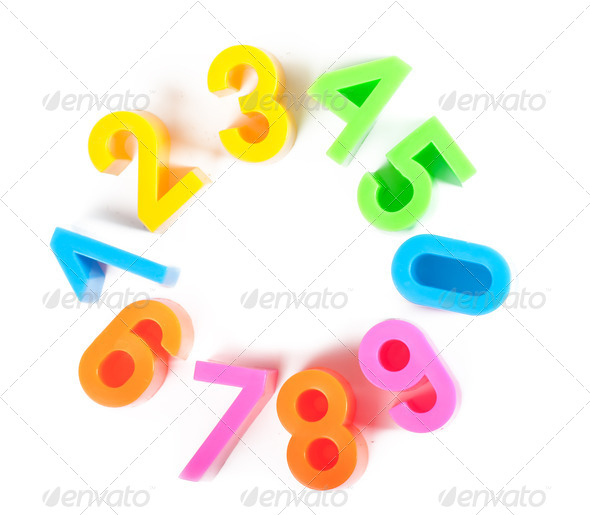 Bright numbers - Stock Photo - Images