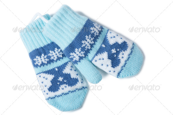 Baby mittens - Stock Photo - Images