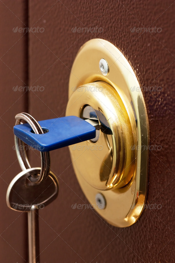 Safe lock - Stock Photo - Images