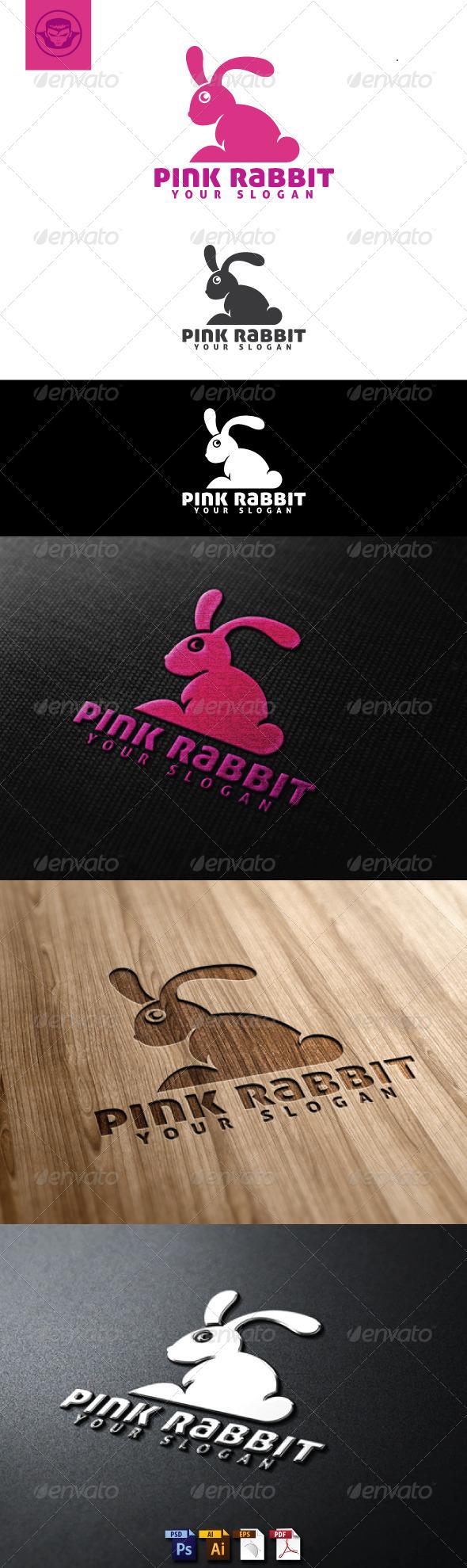 Pink Rabbit Logo Template - Animals Logo Templates