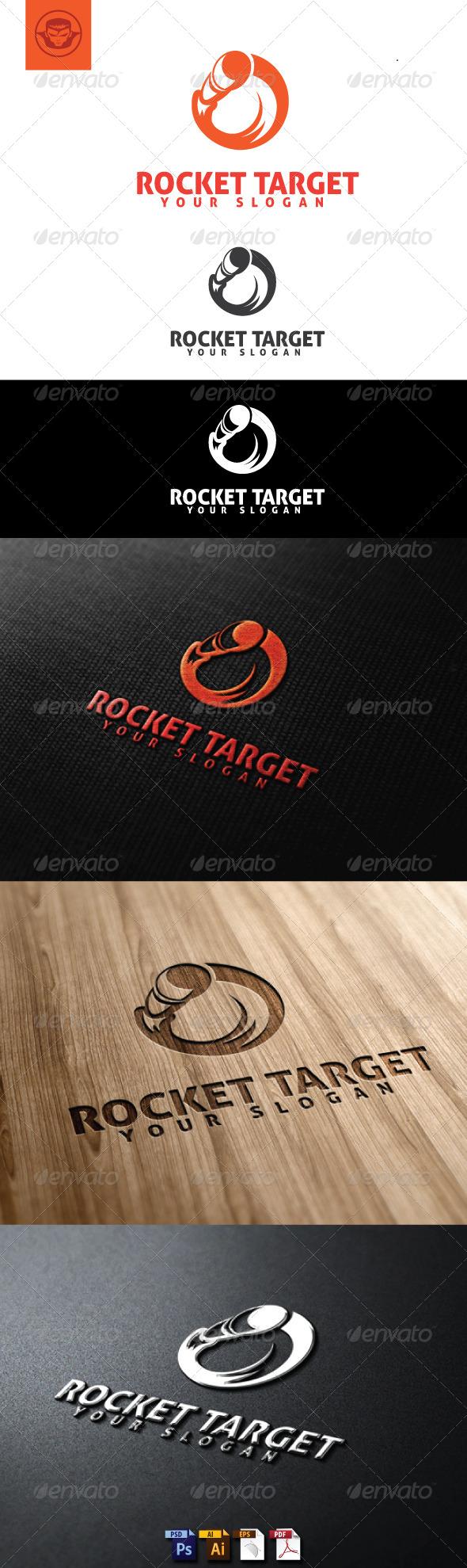 Rocket Target Logo Template - Objects Logo Templates