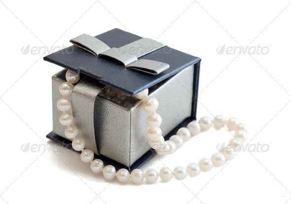 Box with pearls - Stock Photo - Images