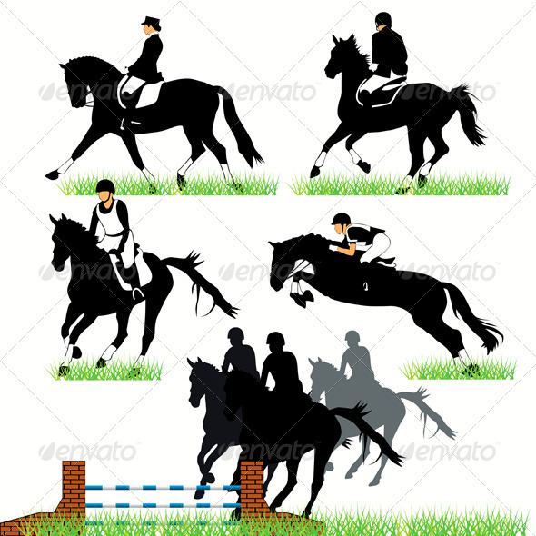 Jockeys And Riders - Sports/Activity Conceptual