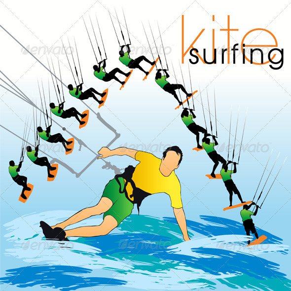 Kite Surf In Phases - Sports/Activity Conceptual
