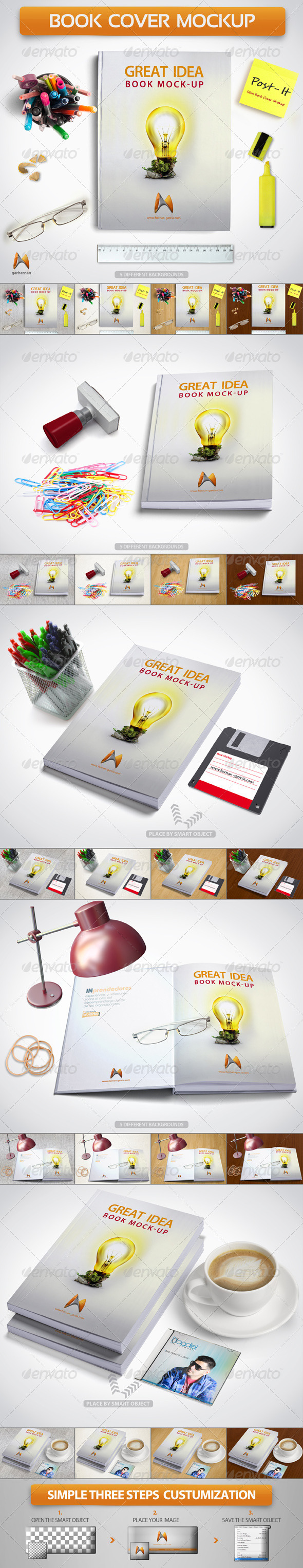Book Cover Mockup - Product Mock-Ups Graphics