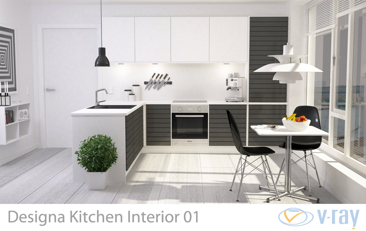 Modern Kitchen Interior By Sickleadzdk