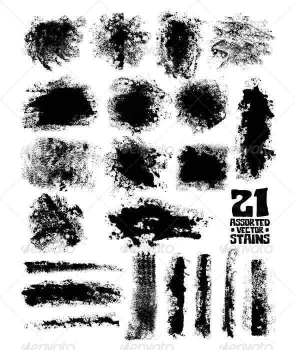 21 Assorted Stains Vector - Miscellaneous Conceptual