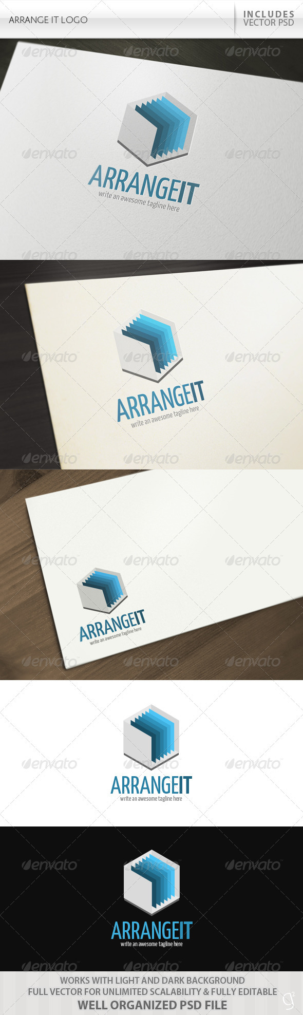 Arrange It Logo - Objects Logo Templates
