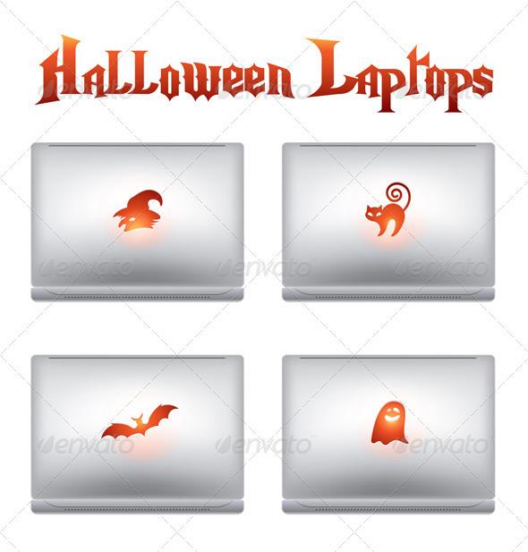 Halloween creative design laptops - Halloween Seasons/Holidays