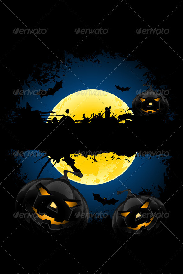 Grungy Halloween Background - Halloween Seasons/Holidays