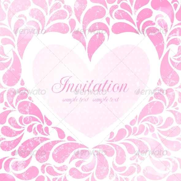 Wedding Invitation - Decorative Symbols Decorative