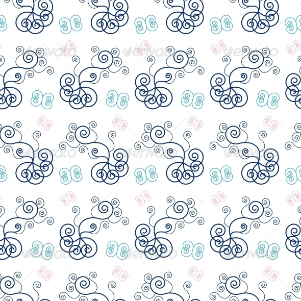 Pattern with Swirls - Backgrounds Decorative
