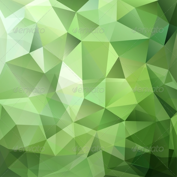 Abstract Green Triangle Background - Abstract Conceptual