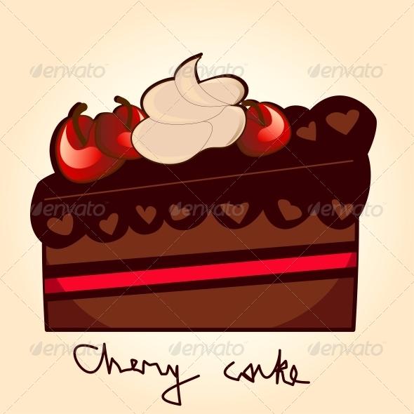 Pice of Chery Cake - Birthdays Seasons/Holidays