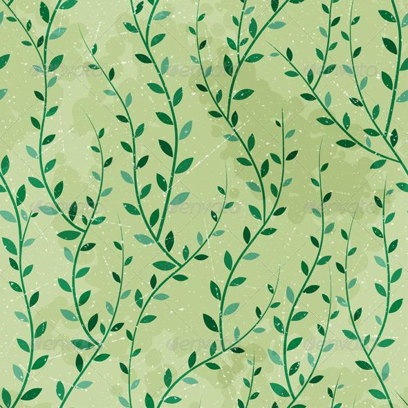 Green Trees Seamless - Patterns Decorative