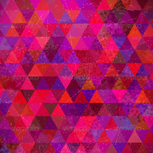 Retro Triangles Background - Backgrounds Decorative