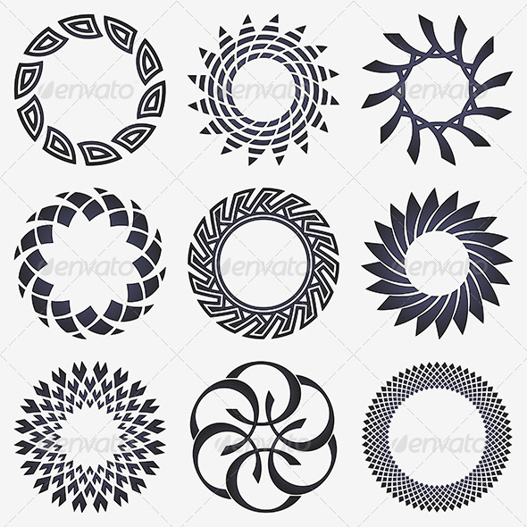Abstract Design Elements - Decorative Symbols Decorative