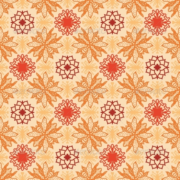 Floral Pattern in Ethnic Style  - Patterns Decorative
