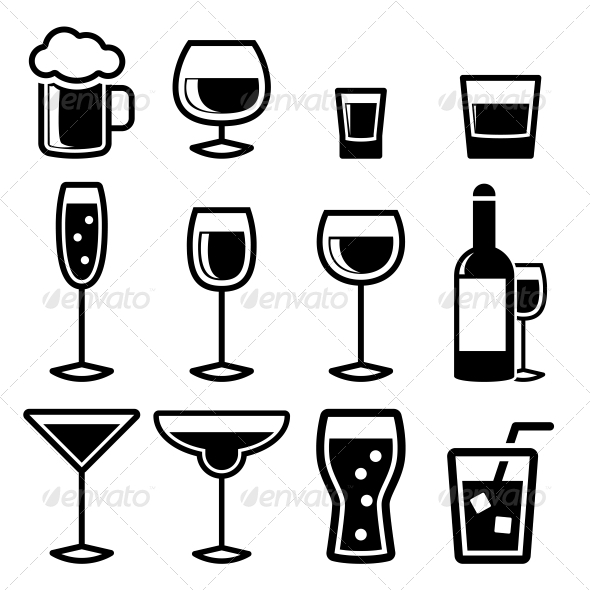 Drink Icons - Buildings Objects