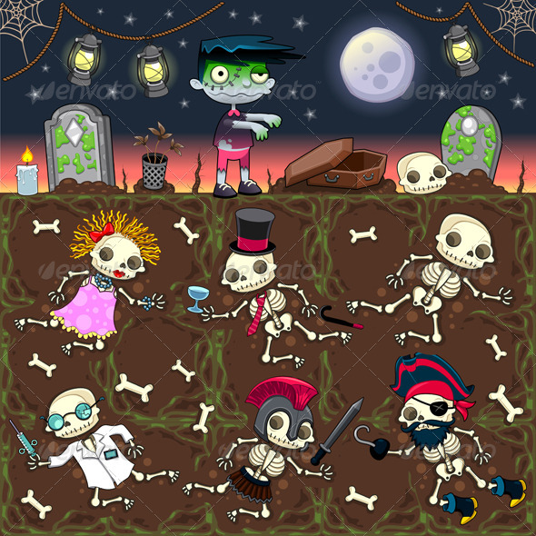 Zombie Scene.  - Halloween Seasons/Holidays