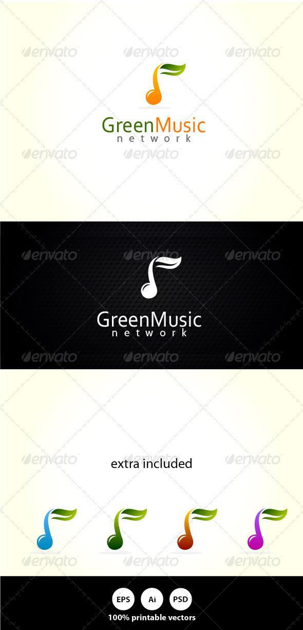 Green Music - Symbols Logo Templates