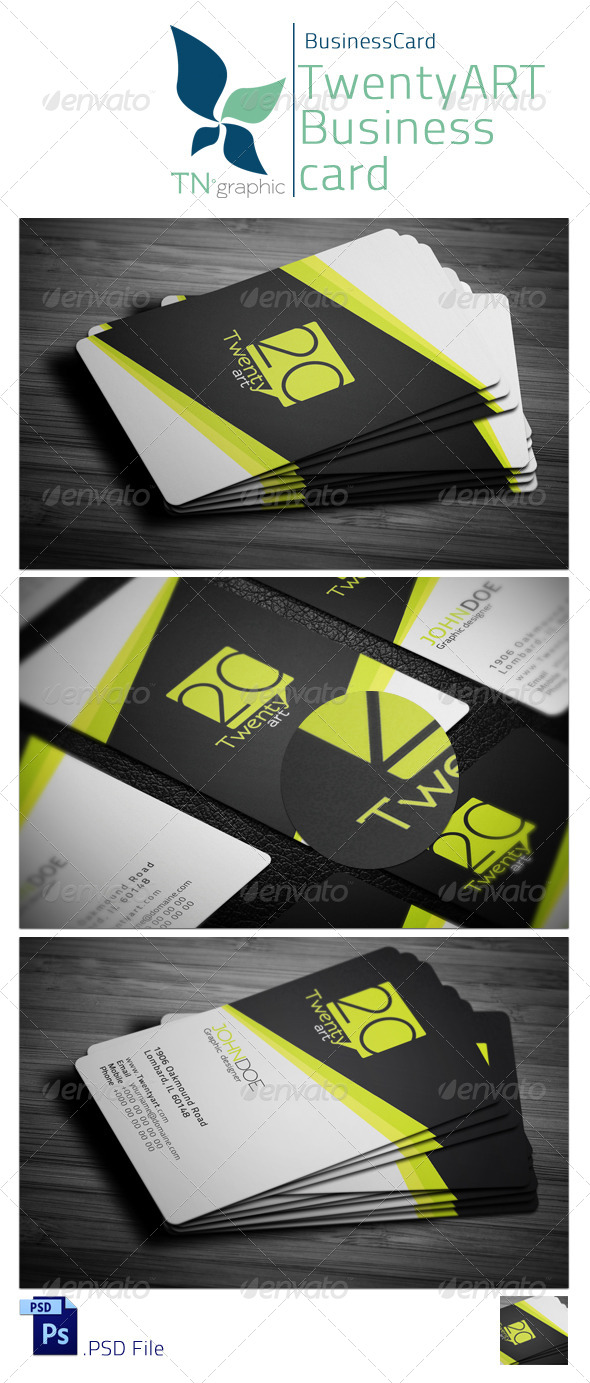 Twenty art Business card - Creative Business Cards