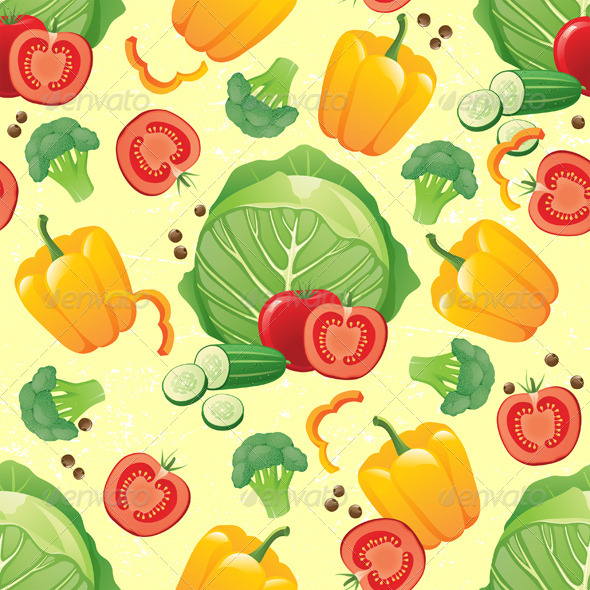 Vegetables Seamless - Patterns Decorative