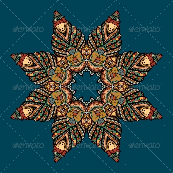 Vector Pattern with Marine Inhabitants - Backgrounds Decorative