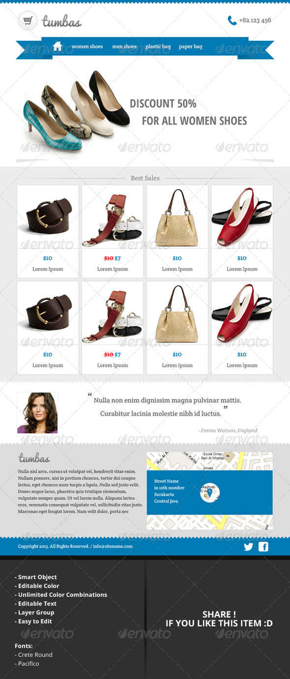tumbas online shop email newsletter template by indiefreelancer