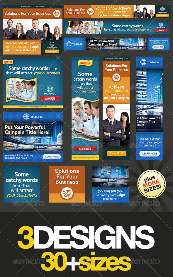 Corporate Banner Set Bundle 4.0 - Banners & Ads Web Elements