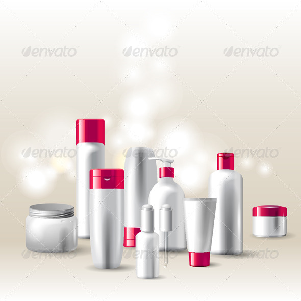 Cosmetics Package - Objects Vectors