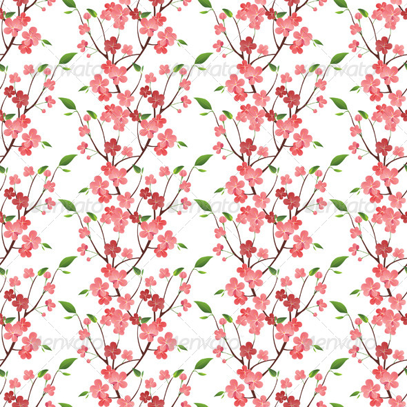 Spring Blossom Seamless - Patterns Decorative
