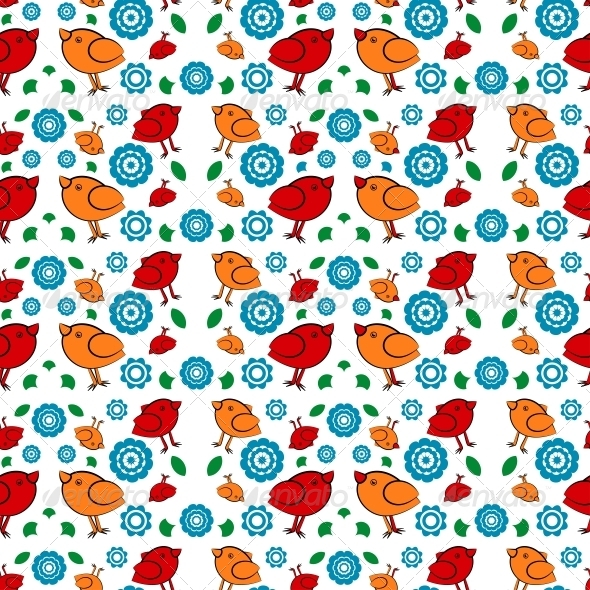 Background with Birds for Printing - Patterns Decorative