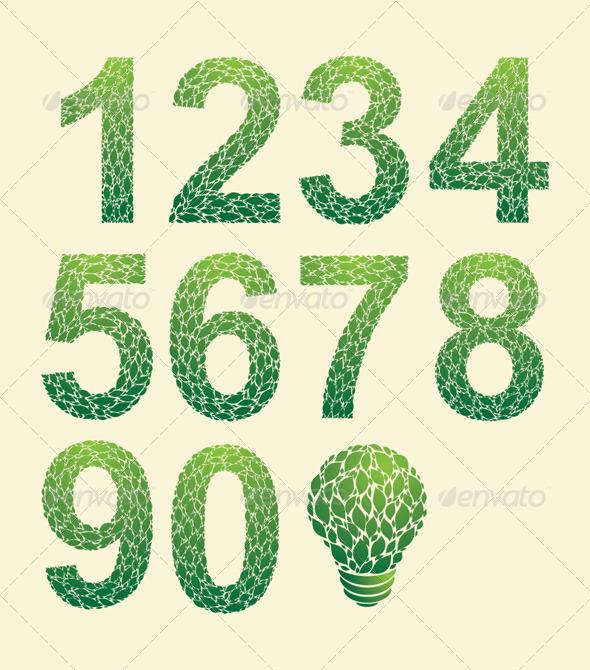 Leaf Number - Decorative Symbols Decorative